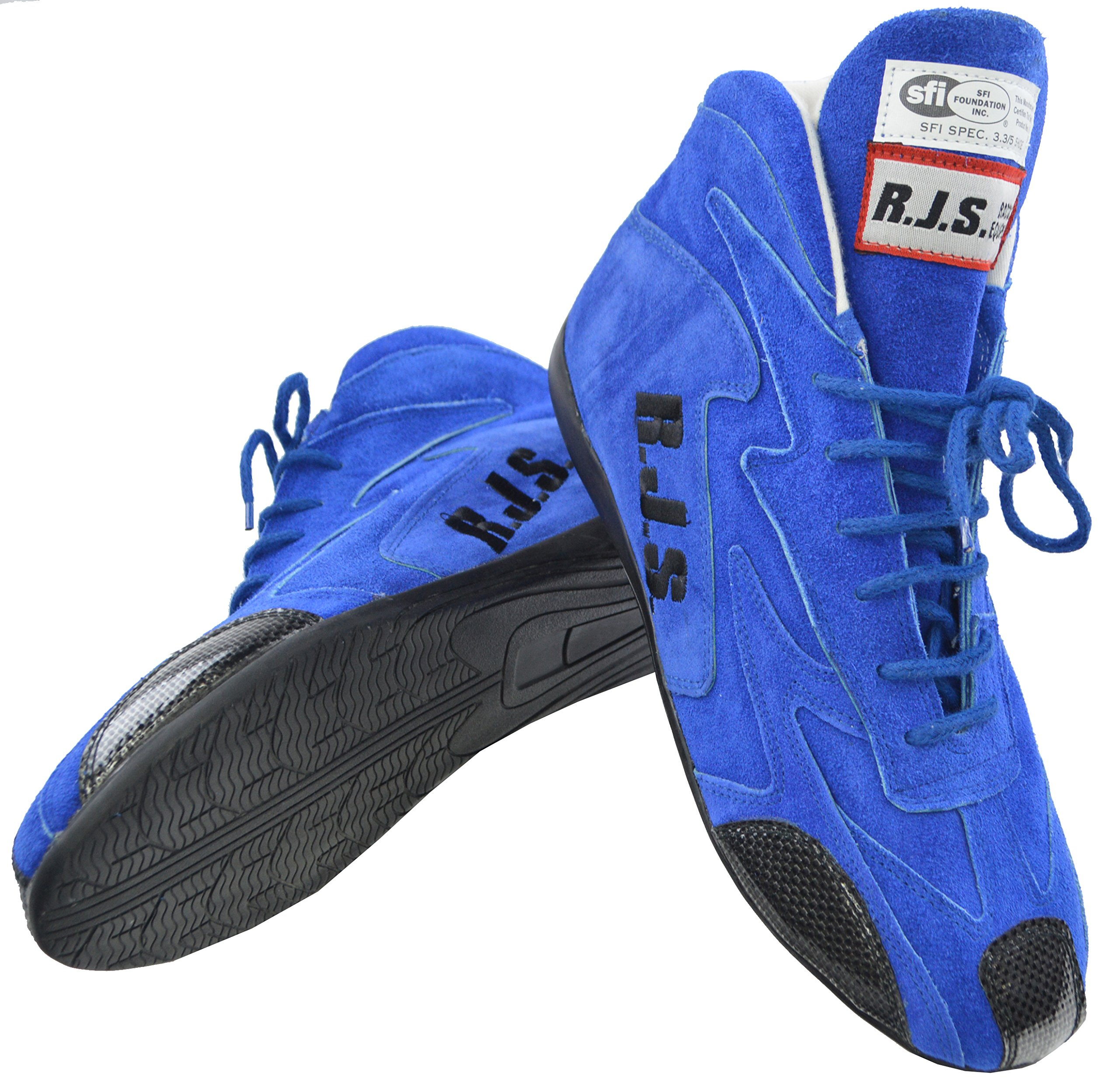 1a8b59dc396b96 NET RJS RACING SFI 3.3 5 RACING DRIVING SHOES BLUE MENS 10