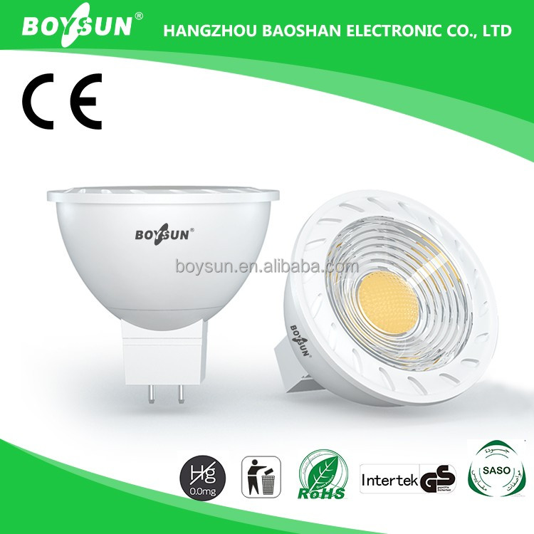 Low Power Consumption MR16/GU5.3 Lamp Holder AC/DC 12V ce rohs 6w led spotlight