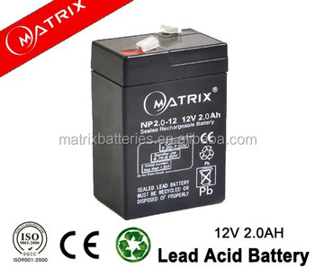 Deep cycle battery , sealed lead acid battery 12v 2ah for ups