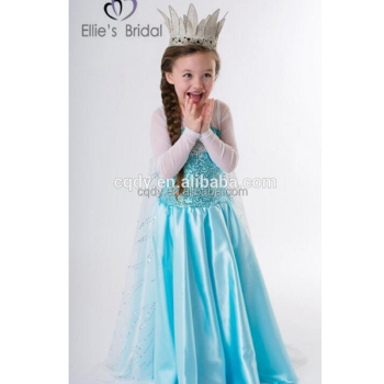 2015 Billige Kinder Mädchen Gefroren Elsa Kleid Großhandel ...