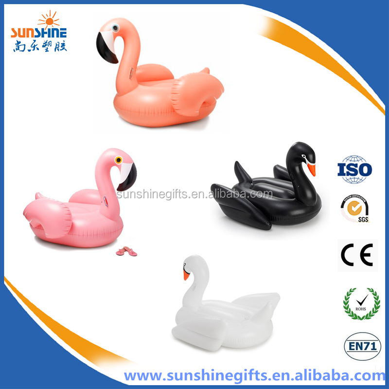 eco-friendly PVC inflatable giant floating swan