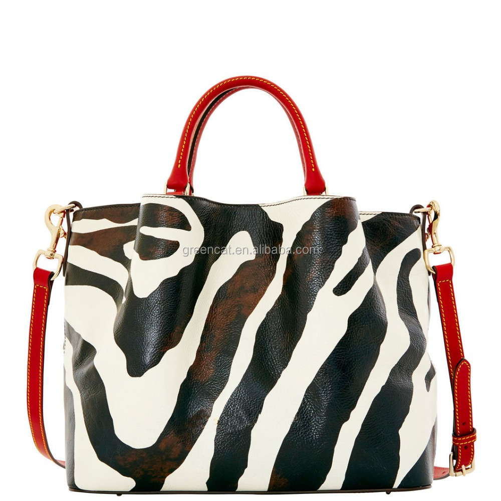 2015 wholesale China women high quality fashion Europe PU leather trendy celebrity zebra-striped handbags FA128