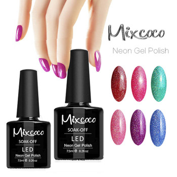 Cheap Price Mixcoco 15ml Soak Off Uv Gel Neon Nail Polish - Buy Neon ...