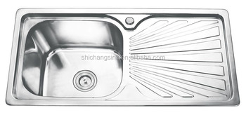 Kitchen Sink Supplier Single Drain Board Inox Kitchen Sinks