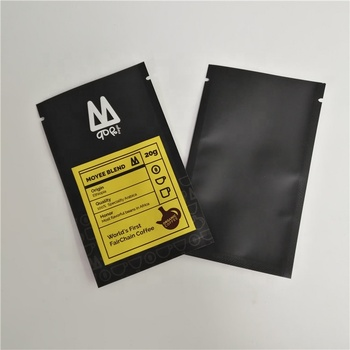 Three Side Sealed Small Bags Custom Printing Packaging Sachet for Samples Coffee Tea Snack Packaging bags