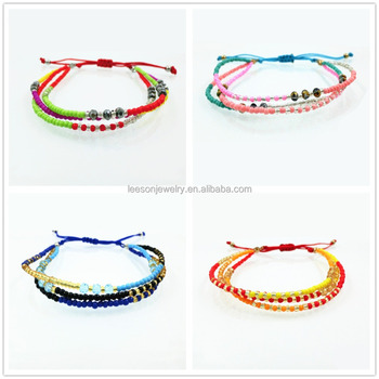 Handmade Bracelets Hippy Beaded Friendship Bracelet Charm Crystal Beads Cross Love For Women Men