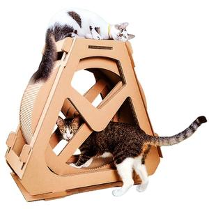 Cat Scratching Posts Board Scratch Cat Exercise Wheel Cat Tree Climbing House Running Spinning Interactive Toy for Pets