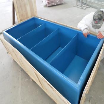 Hot sale simple design rectangular fiberglass fish pond for Rectangular koi pond