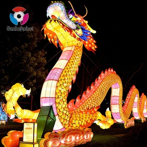 Customed-Made handwork Silk chinese dragon lantern