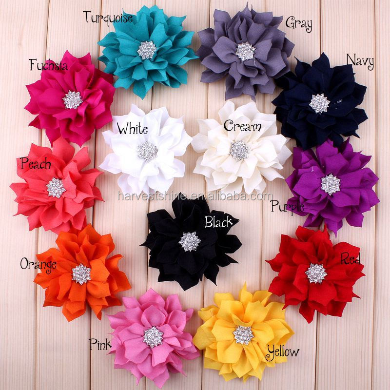 Decorative Lotus Flowerhandmade Fabric Flowers For Hair Wholesale
