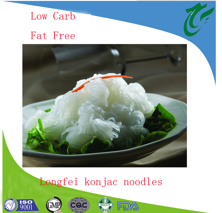 Factory Directly Low carb shirataki konjac spinach noodles