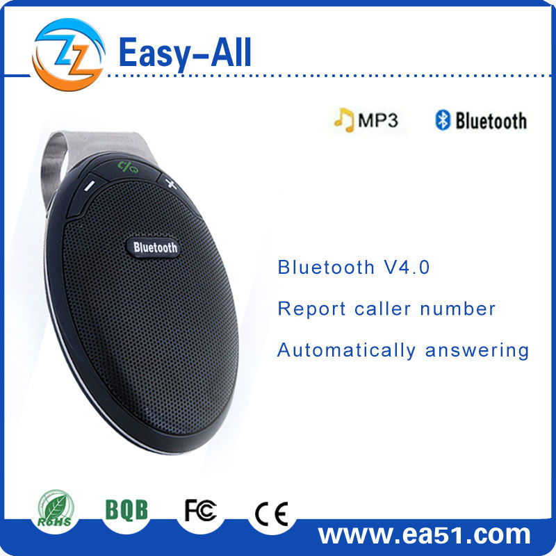 High Quality Bluetooth Car Kit bluetooth mp3 player with voice dial/last number redial mobile phone handsfree device HF-810