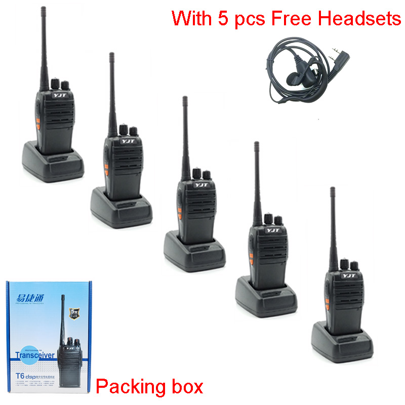 5 km Walkie Talkie 5 Watts UHF Beste Long Range Wireless Woki Toki Mit Headset