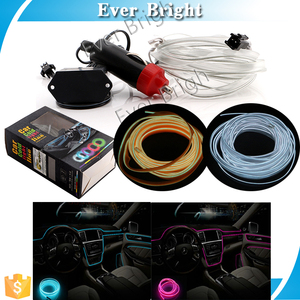 Most popular products colorful cold led strip decorative light line 1M 2M car accessories interior ambient light
