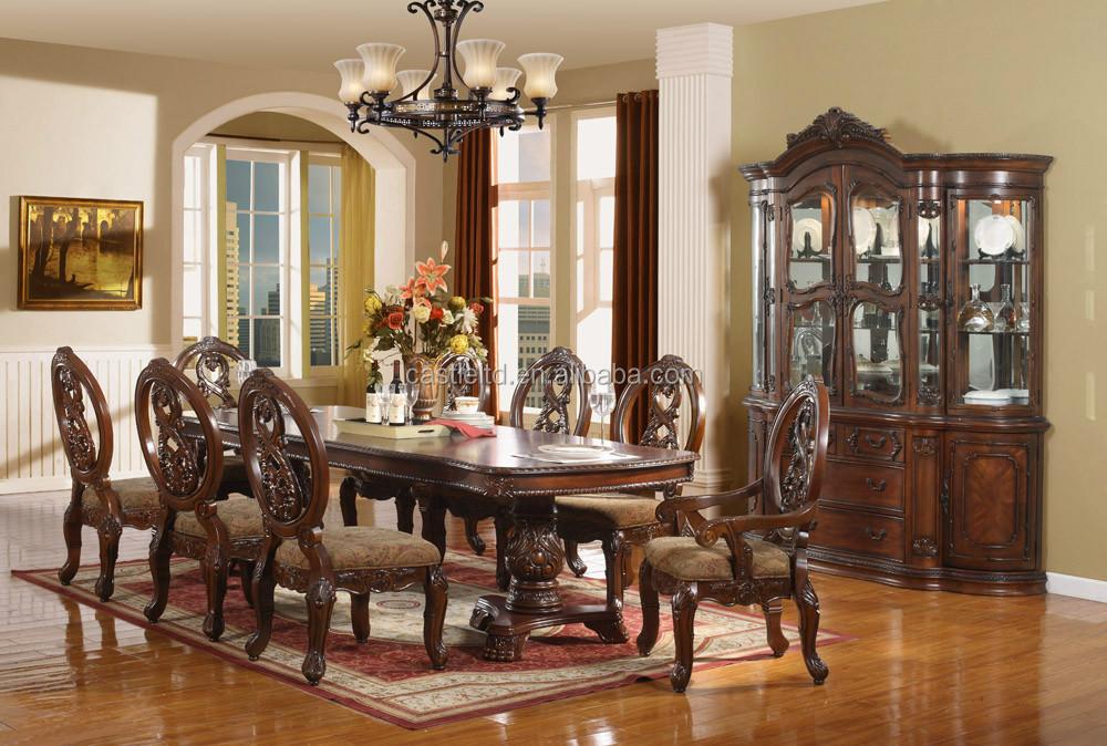 Lujo antiguo juego de comedor de madera, Casa/Hotel comedor muebles ...