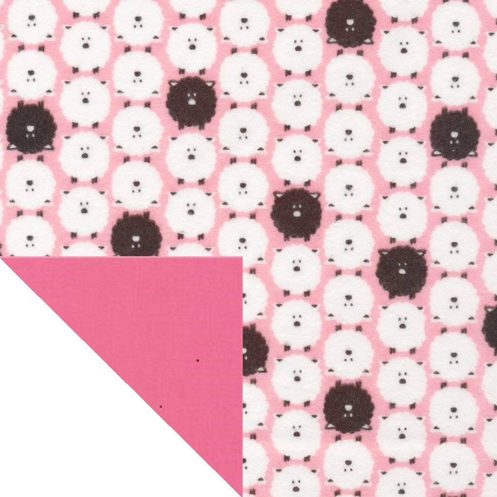 Kiddokins Organic Cotton Cloth Napkins for Kids Lunchbox: Sheep! Double Sided Cotton/Flannel Napkin