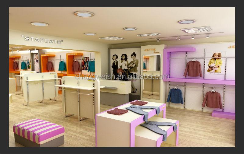 Hermosa tienda de ropa de dise o de la pantalla soporte de for Diseno de interiores almacenes de ropa