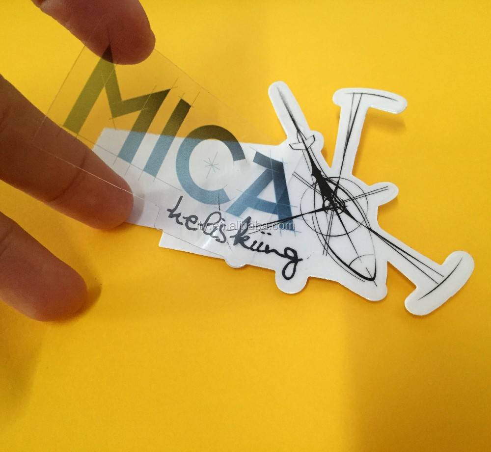 Transparent Clear Vinyl Label Logo Laptop Sticker
