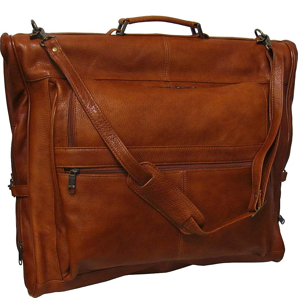 5e81195f9d Get Quotations · Amerileather Leather Three-suit Garment Bag