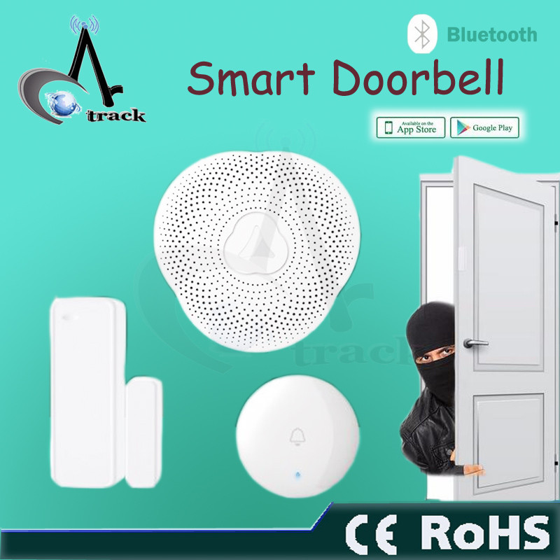 Smart home doorbell bluetooth APP control with night light and alarm function