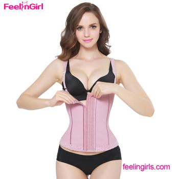 f70a1a1d816 Latex Pink Slimming Shaper Vest Zipper Best Waist Cincher - Buy ...