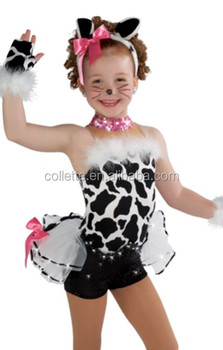 5e856eca69ef Mbq974 Child Lycra Stage Animal Dance Costumes Cat Dance Dress - Buy ...