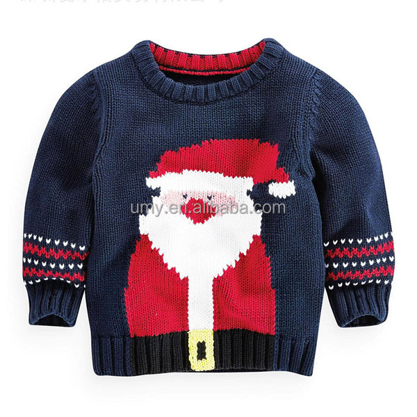 Baby Boys Christmas Jumper Sweater Santa Claus Pattern Funny Baby Sweater Des...