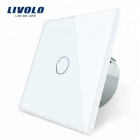 Livolo Luxury White Crystal Glass Panel Intelligent Touch Wall Light Switch EU standard VL-C701-11