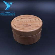 New design cosmetic cream bamboo wooden 100g plastic jar