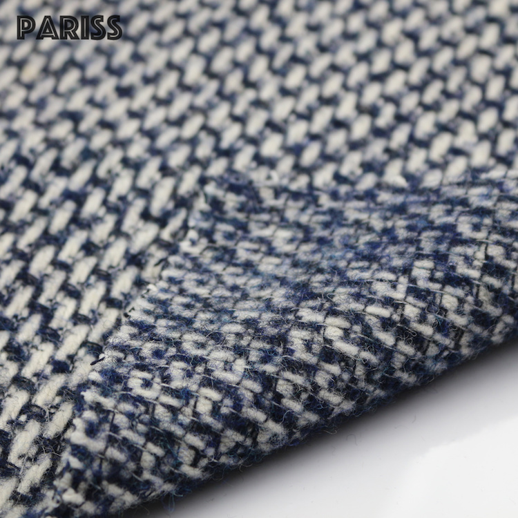 Pariss 50%Wool 50%Mixed fiber wool suit cashmere tweed fabric