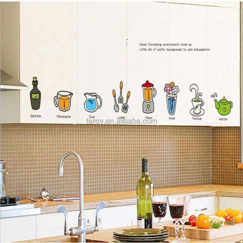 Venta al por mayor vinilos para pared de cocina-Compre online los ...
