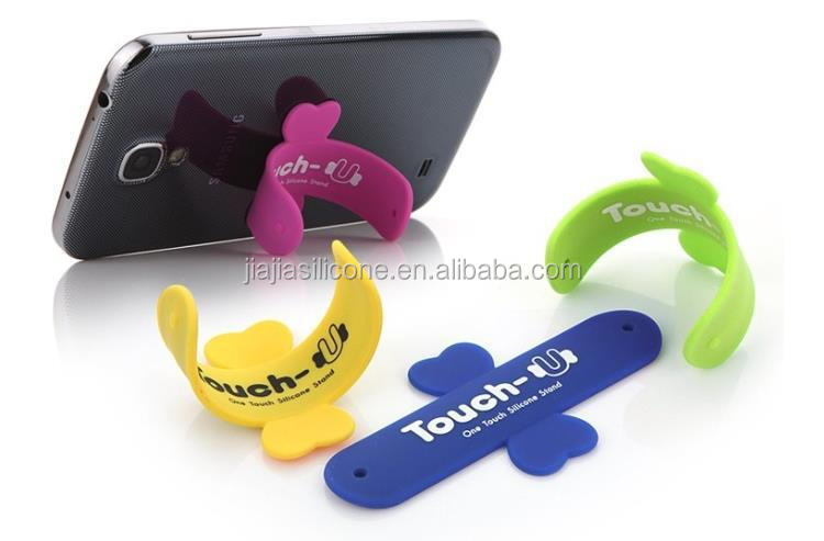 china factory hot sale u-touch phone holder Silicone Cell phone stand