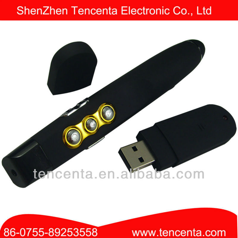 2.4Ghz RF Wireless Laser Pointer Presentation Device With Page Up/Down Functio