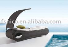 outdoor bed rattan sun lounge NL09220