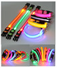 QQFactory flashing led light dog collar & led lights up dog collar & flashlight dog collar