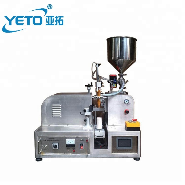 Factory price small volume semi automatic single head ultrasonic plastic soft tube filling sealing machine