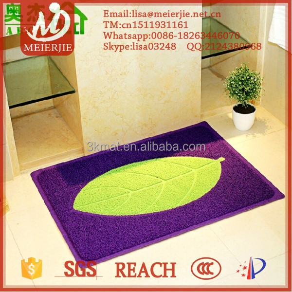 PVC or PU Material New pattern kitchen area door mat rugs washable flooring mat