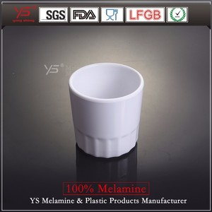 SGS certified good quality unbreakable 100% melamine tube plastic cup japan