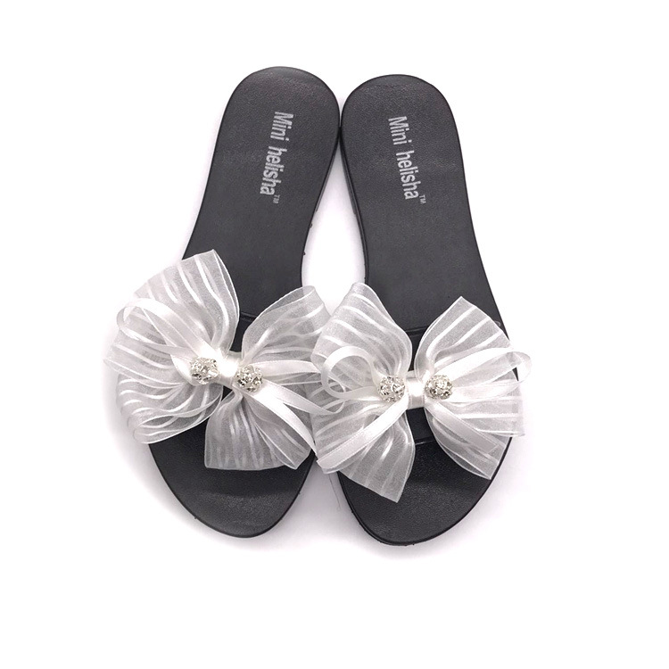 Factory Summer Sandals flat beach slipper fashion women diamond fashion women slippers with bow