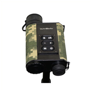 Built-in 500 meter Laser Rangefinder Digital Night Vision Monocular for hunting and security personnel
