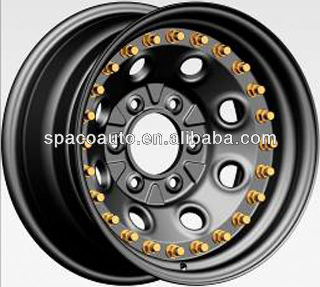 Doule side beadlock jcb wheel rim 3 pieces for JEEP