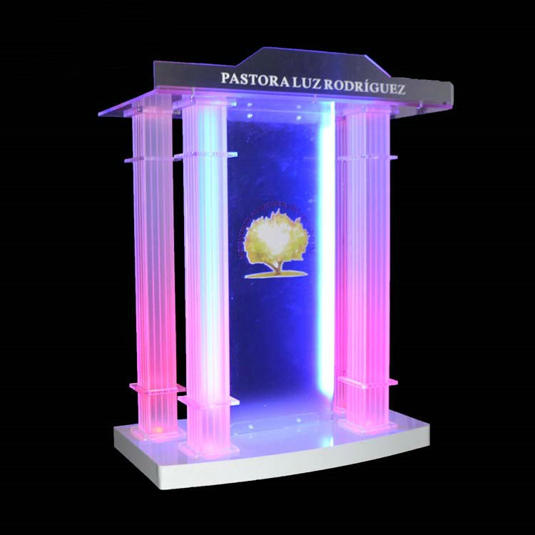 Floor Standing Clear Acrylic Theater Lectern Acrylic Lectern