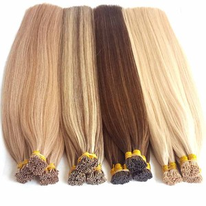 UK Popular Piano Color blonde hair single strand hair extensions top grade 9a virgin hair