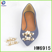 Alloy pearl rhinestone shoe trims for fashion shoe decoration culture