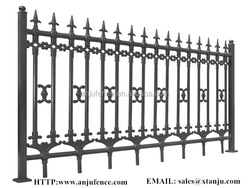 Decorative Metal Garden Fence Panels Steel Grills Fence Designs