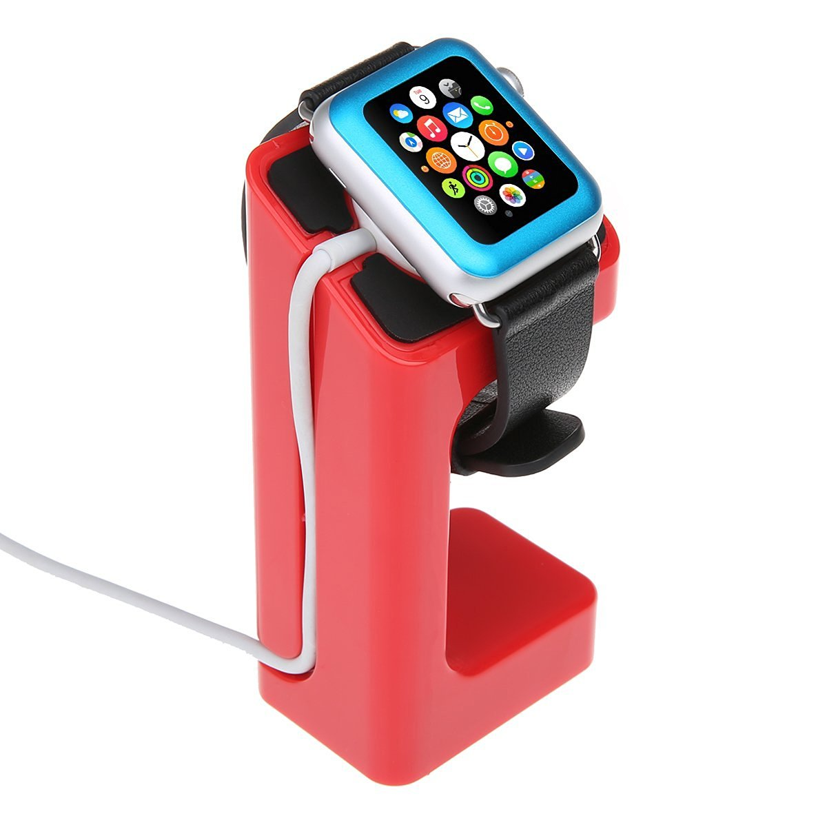Apple Watch Stand,Apple Watch Charging Stand Bracket Docking Station Stock Cradle Holder for Apple Watch 38mm 42mm (Red)