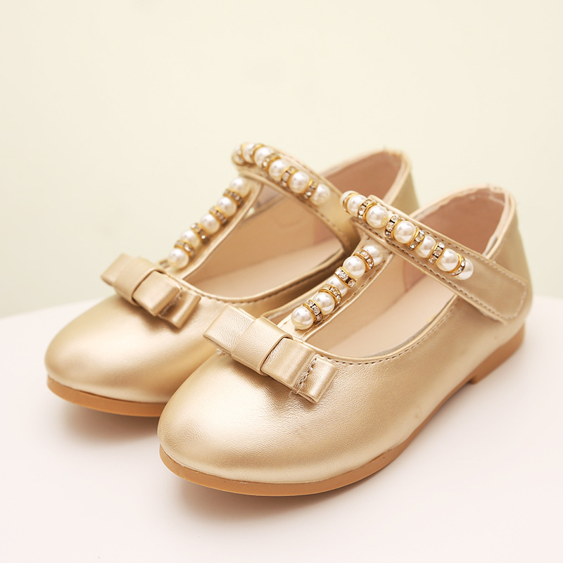 a38d0cd2f6b New 2015 Baby Girls Shoes Princess Flat Casual Sliver Bow Litter Girl Shoes  Wedding Children Girl