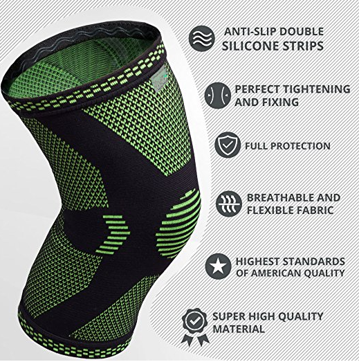 Compression Knee Sleeve Best Knee Brace for Meniscus Tear, Arthritis, Quick Recovery etc. Knee Support For Running,