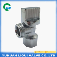 1/2 Quarter turn brass angle valve with ABS plastic handle for water