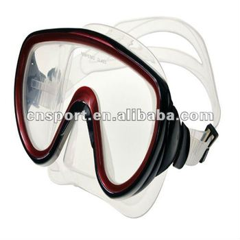 2012 Adults Tempered Silicone Diving Mask YR-2710